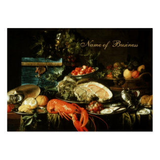 Profile Card Vintage Art Still Life Painting Large Business Cards (Pack Of 100)
