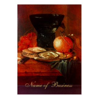 Profile Card Vintage Art Still Life Painting Large Business Card