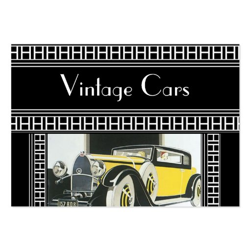 Profile Card Vintage Cars Business Card Template