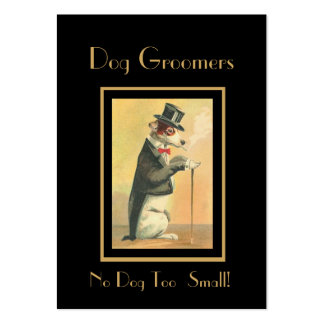 Profile Card Vintage Dog Groomers 4 Business Card