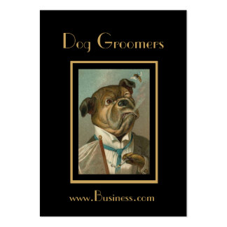 Profile Card Vintage Dog Groomers Large Business Card