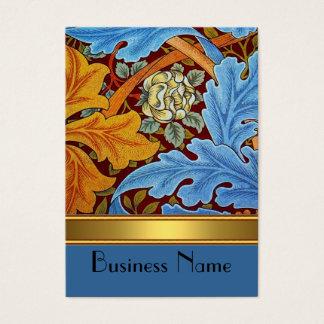 Profile Card Vintage Print William Morris Gold
