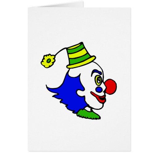 Profile Clown Head Greeting Card