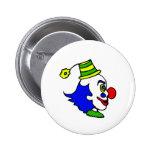 Profile Clown Head Pinback Button