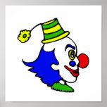Profile Clown Head Poster