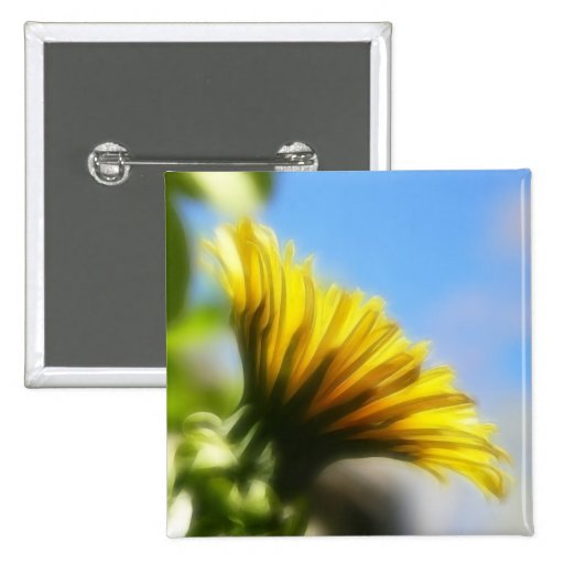 Profile - Golden Dandelion 2 Inch Square Button