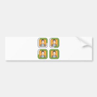 Profile Loading Icon Bumper Sticker