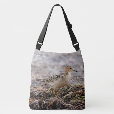 Beach Themed Profile of a Buff-Breasted Sandpiper at the Beach Crossbody Bag
