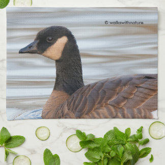 Profile of a Cackling Goose Hand Towel