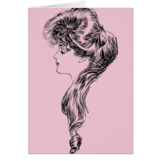 Profile Of A Gibson Girl, 1903 Card