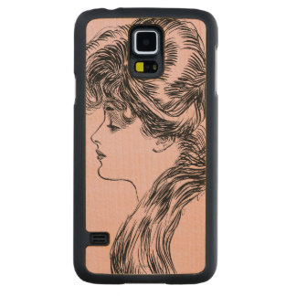 Profile Of A Gibson Girl, 1903 Carved® Maple Galaxy S5 Slim Case
