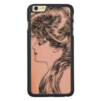 Profile Of A Gibson Girl, 1903 Carved® Maple iPhone 6 Plus Slim Case