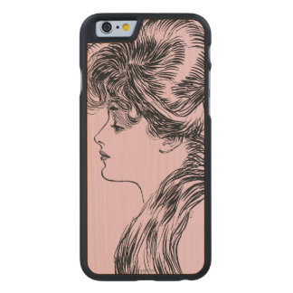Profile Of A Gibson Girl, 1903 Carved® Maple iPhone 6 Slim Case