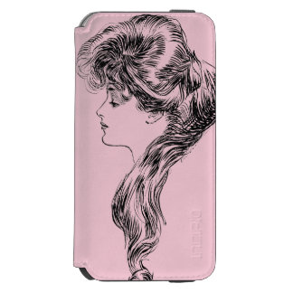 Profile Of A Gibson Girl, 1903 iPhone 6/6s Wallet Case