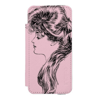 Profile Of A Gibson Girl, 1903 iPhone SE/5/5s Wallet Case
