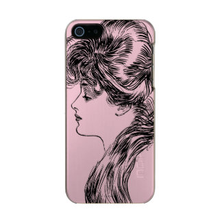 Profile Of A Gibson Girl, 1903 Metallic Phone Case For iPhone SE/5/5s