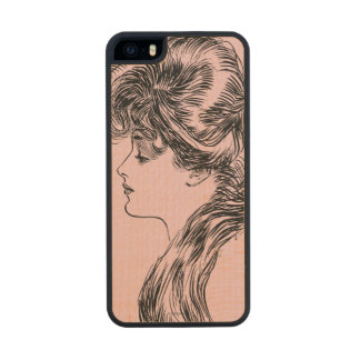 Profile Of A Gibson Girl, 1903 Wood iPhone SE/5/5s Case