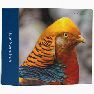Profile of a Golden Red Pheasant 3 Ring Binder