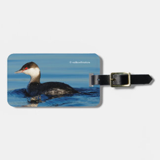 Profile of a Horned Grebe Luggage Tag