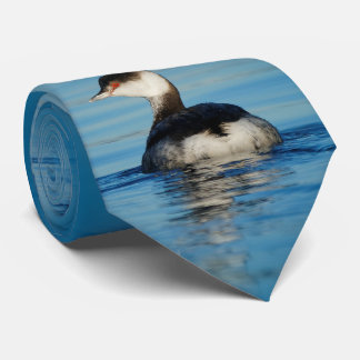 Profile of a Horned Grebe Tie