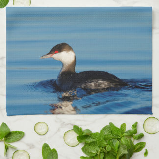 Profile of a Horned Grebe Towel
