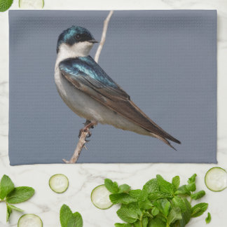 Profile of a Male Tree Swallow in the Sun Kitchen Towel