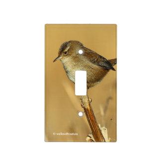 Profile of a Marsh Wren Light Switch Cover