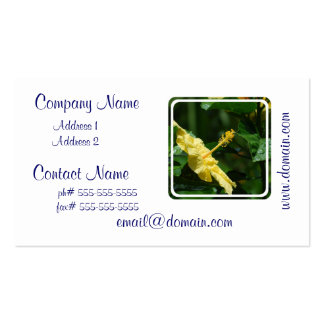Profile of a Yellow Hibiscus Business Cards