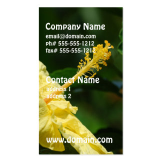 Profile of a Yellow Hibiscus Business Card