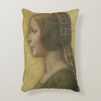 Profile of a Young Fiancee Accent Pillow