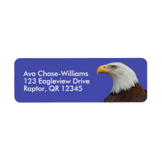 Profile of an Adult Bald Eagle Label