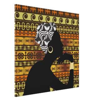 Profile of Beauty and Strength - Wrapped CanvasSRF Canvas Print