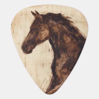 Profile of Brown Wild Horse Guitar Pick