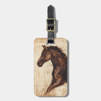 Profile of Brown Wild Horse Bag Tag