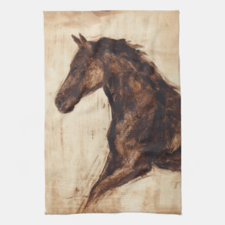 Profile of Brown Wild Horse Towel