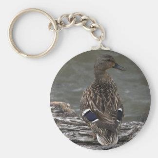 Profile of Female Mallard Basic Round Button Keychain