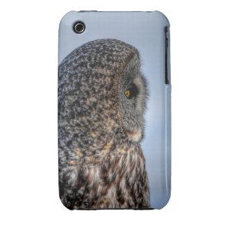 Profile of Great Gray Owl Wildlife Photo Portrait iPhone 3 Case