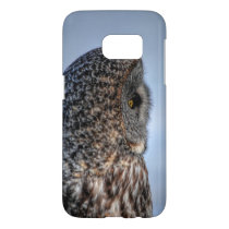 Profile of Great Grey Owl Wildlife Photo Portrait Samsung Galaxy S7 Case