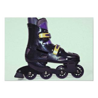 Profile of in-line skates shoe custom invitations