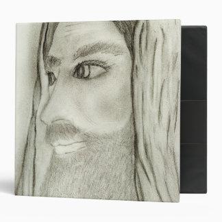 profile of jesus 3 ring binder