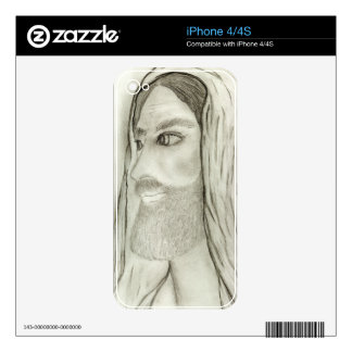 Profile of Jesus iPhone 4 Decal