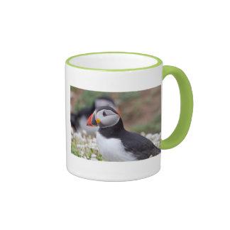 Profile of Puffin on Skomer Island Coffee Mugs