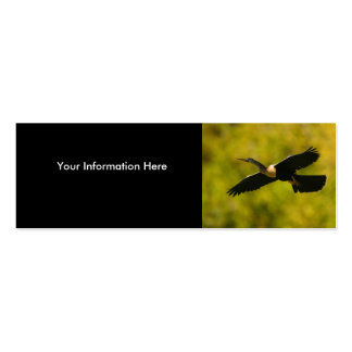 profile or business card, anhinga Double-Sided mini business cards (Pack of 20)