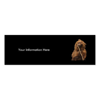 profile or business card, bear Double-Sided mini business cards (Pack of 20)