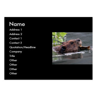 profile or business card, beaver large business cards (Pack of 100)