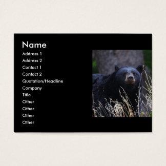 profile or business card, black bear business card