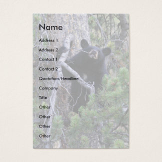 profile or business card, black bear cub business card