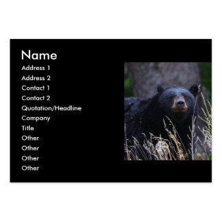 profile or business card, black bear large business cards (Pack of 100)