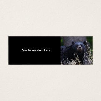 profile or business card, black bear mini business card