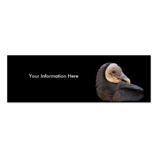 profile or business card, black vulture Double-Sided mini business cards (Pack of 20)